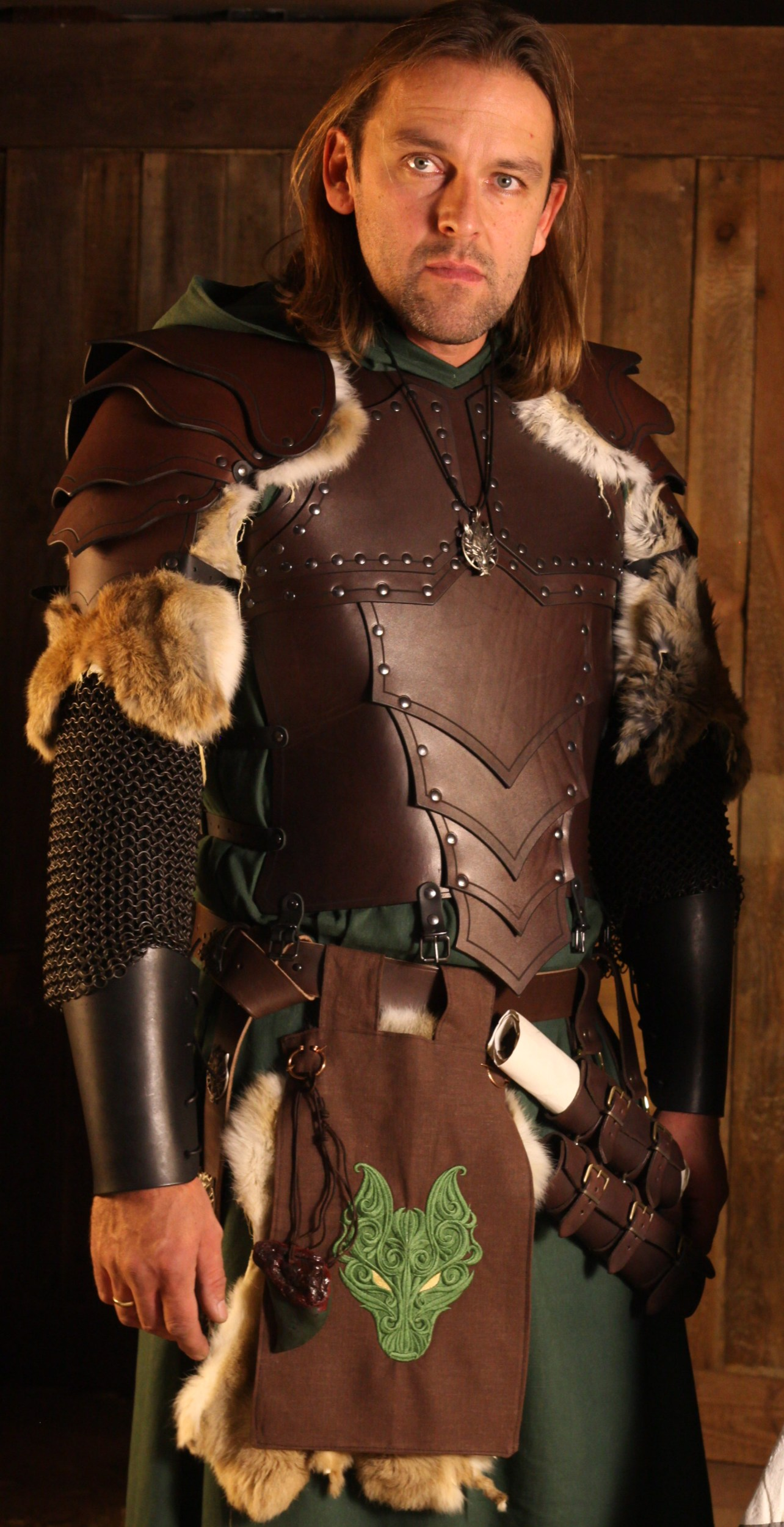 Deluxe Dragon Rider Larp Leather Body Armour Brown