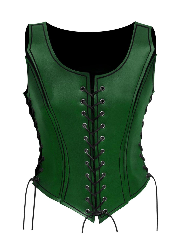 Gladiatorin Lederrüstung grün