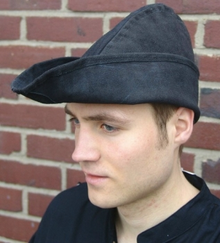 Robin Hood larp cosplay,costume theater Renaissance faire Medieval leather woodsman hat actor,role play hand made