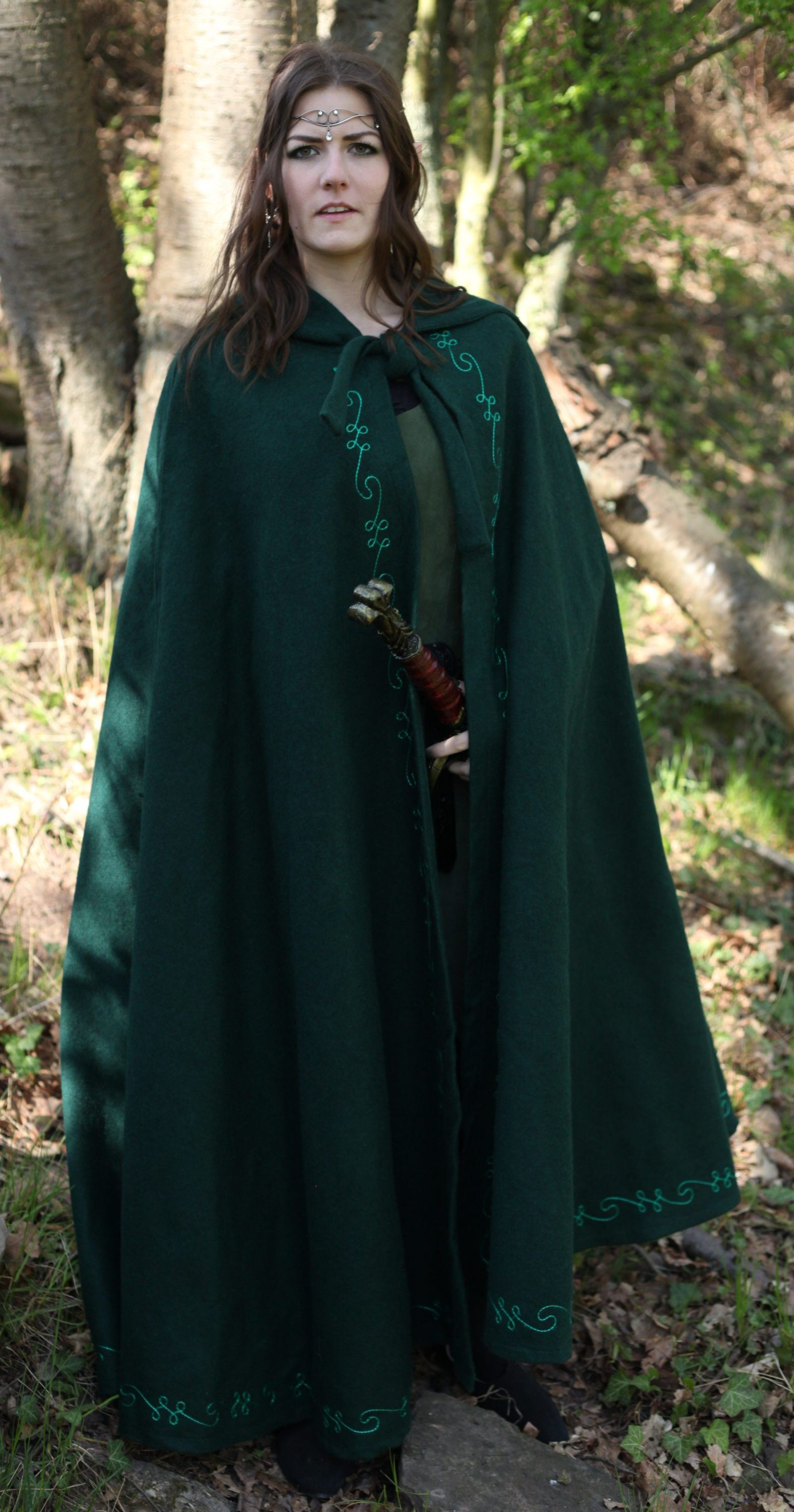 Woolen Cloak With Long Hood And Embroidery Order Online