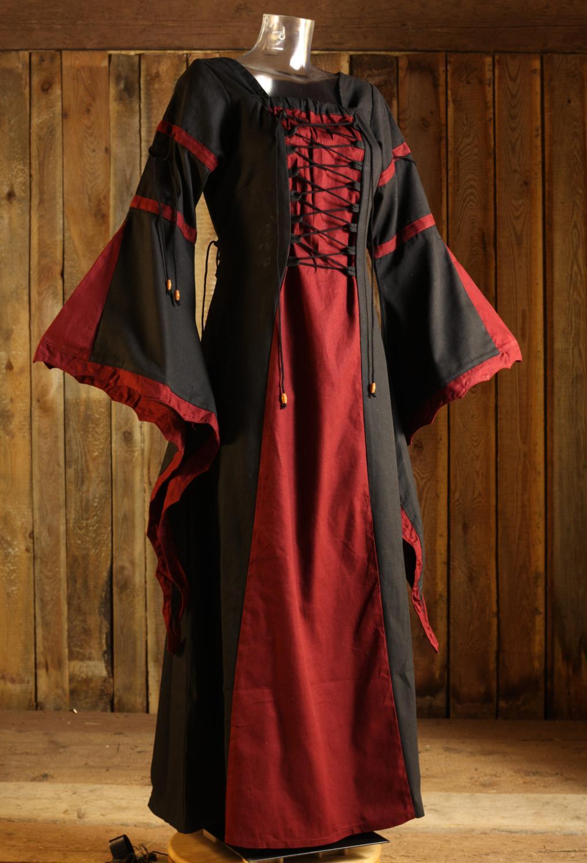 Medeltida klänning i bomull beställ på nätet - larp-fashion.se d068ae4a79a05