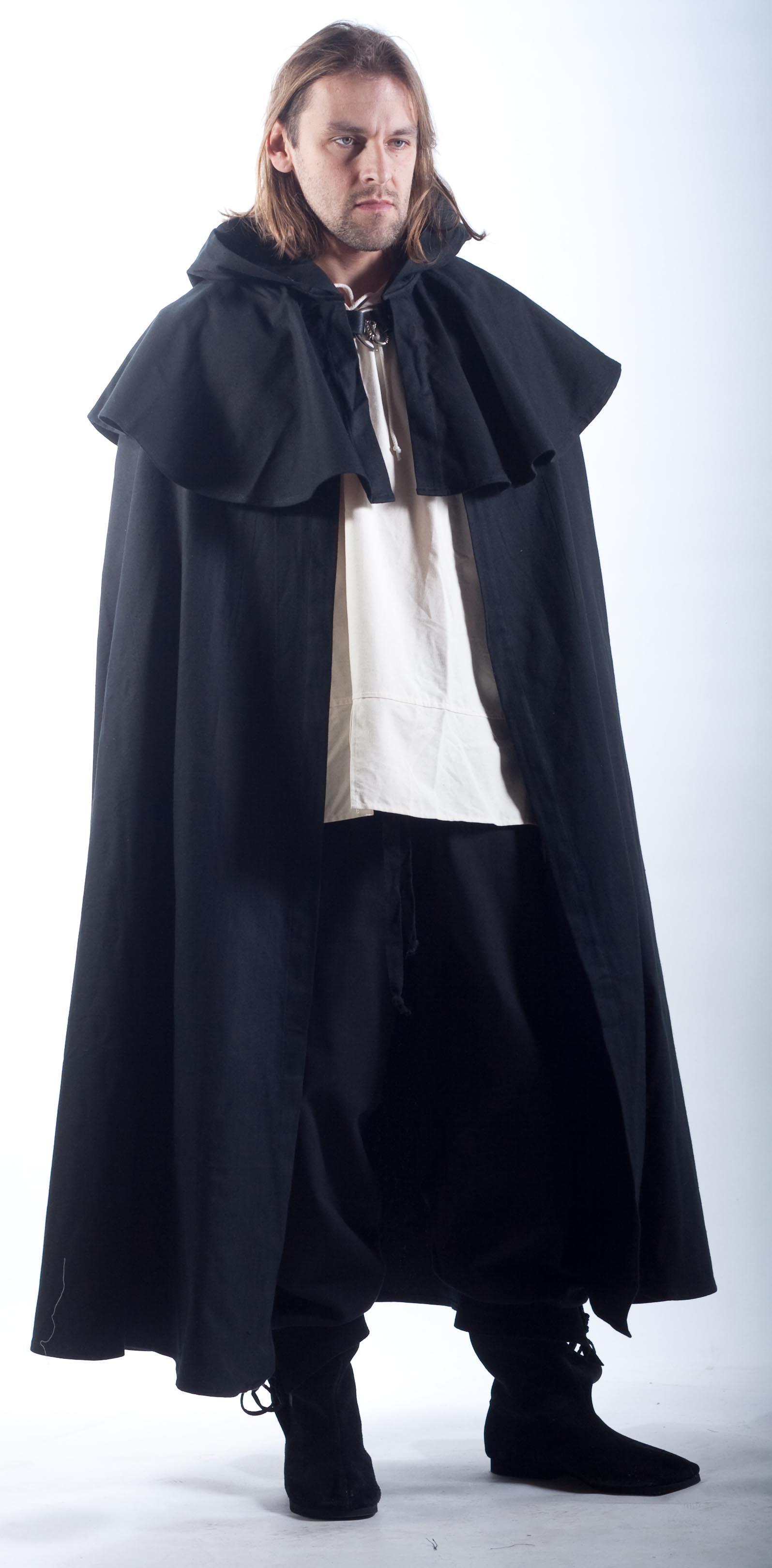 cloak mantle with long hood metal clasp order online. Black Bedroom Furniture Sets. Home Design Ideas
