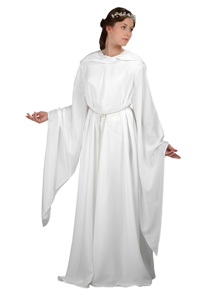 white robe with hood order online with larp. Black Bedroom Furniture Sets. Home Design Ideas