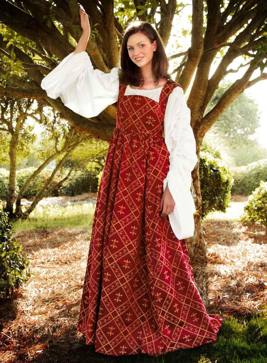 Weinrotes Kleid Fleur de Lys online bestellen bei larp ...