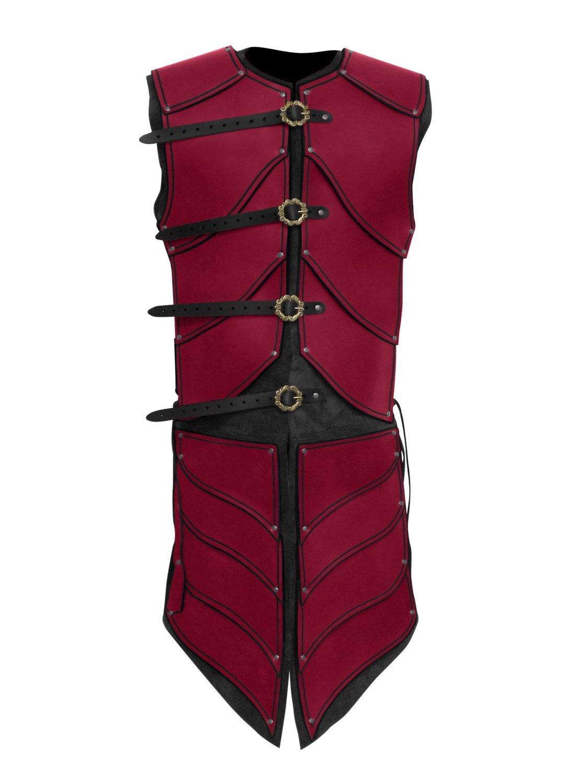 Elfenkrieger Lederrüstung rot