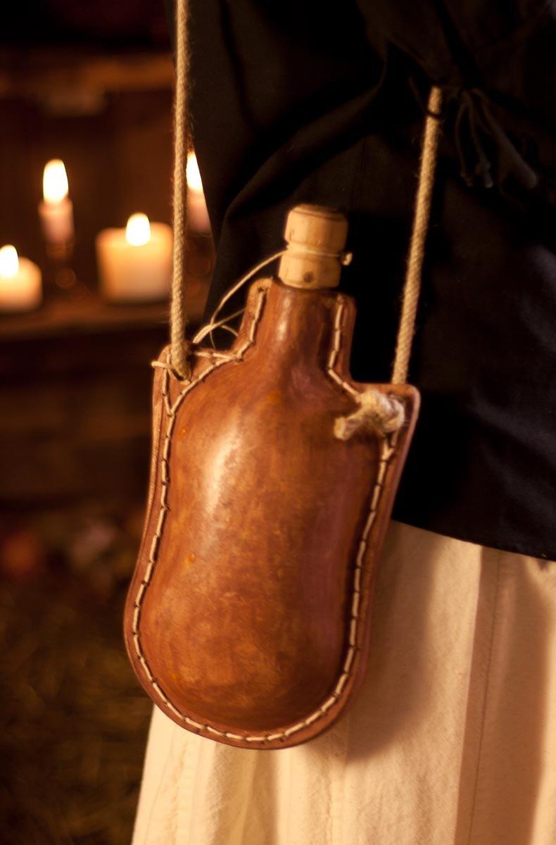 Feldflasche aus Leder