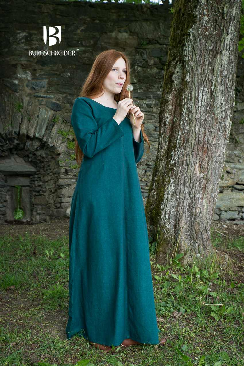 85eac127d3b0f Ladies Viking Dress Norse Shift Freya Green order online with  larp-fashion.co.uk