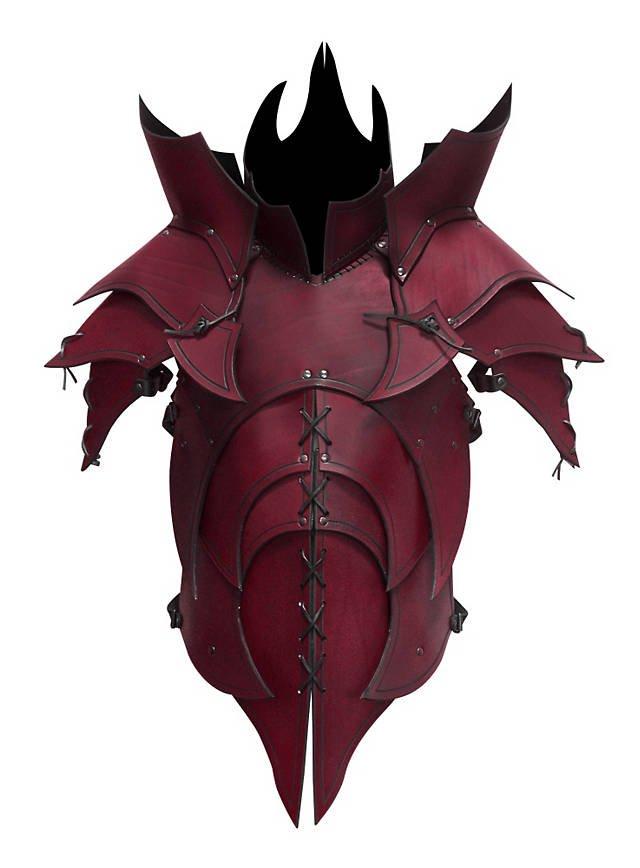 Dämonen Lederrüstung rot